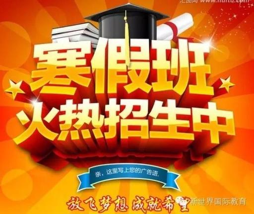 新世界教育杭州新世界寒假课程来袭,让我们赢在